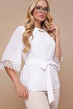 Блуза Карла-Б д/р белый, фото 3