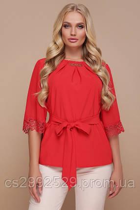 Блуза Карла-Б д/р красный, фото 2