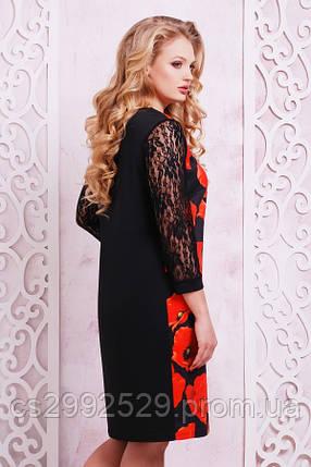 Маки платье Гардена-2Б д/р принт, фото 2
