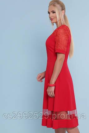 Платье Аида-Б к/р красный, фото 2