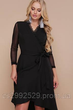 Платье Алеся-Б д/р черный, фото 2