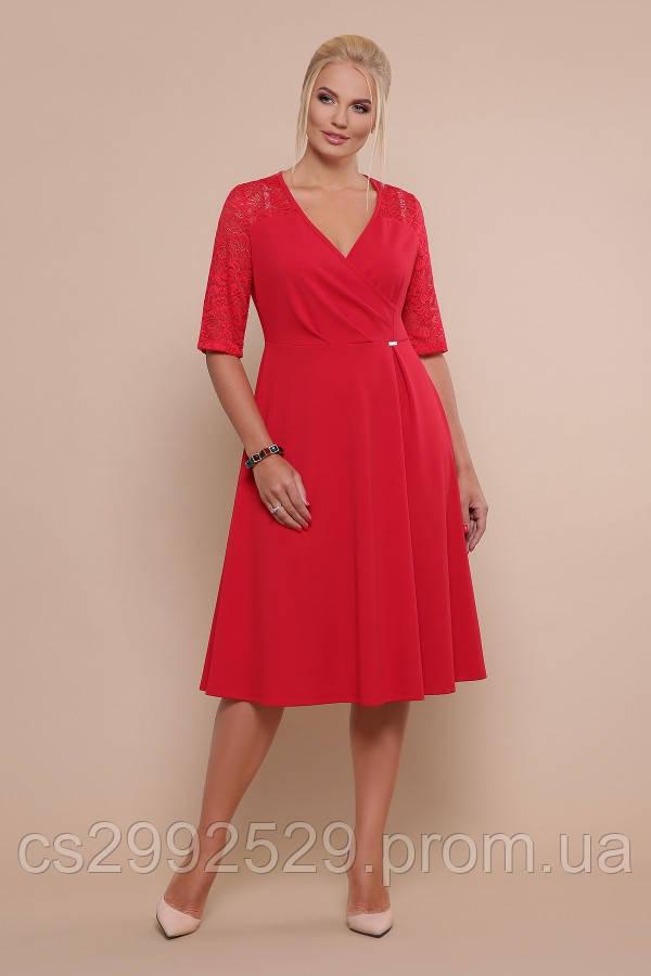 Платье Ида-Б к/р красный