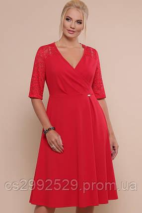 Платье Ида-Б к/р красный, фото 2