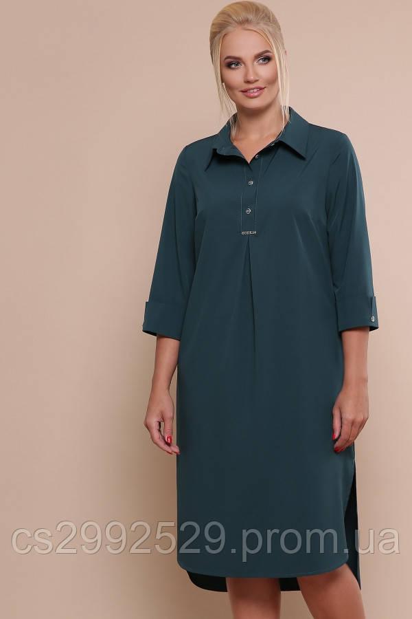 Платье-рубашка Власта-Б 3/4 изумруд