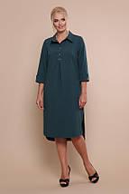 Платье-рубашка Власта-Б 3/4 изумруд, фото 2