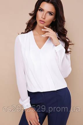 Блуза Айлин д/р белый, фото 2