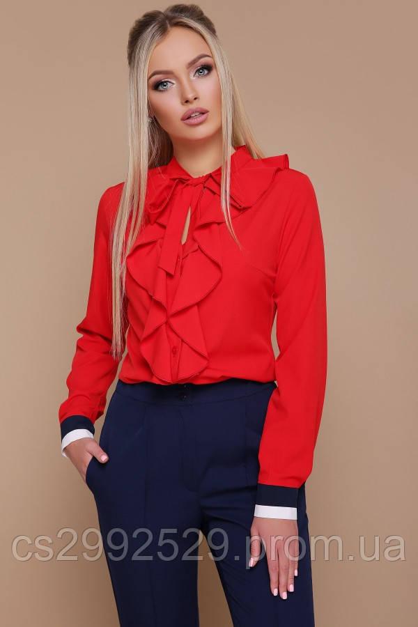 Блуза Бриана д/р красный