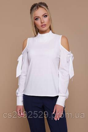 Блуза Варвара д/р белый, фото 2