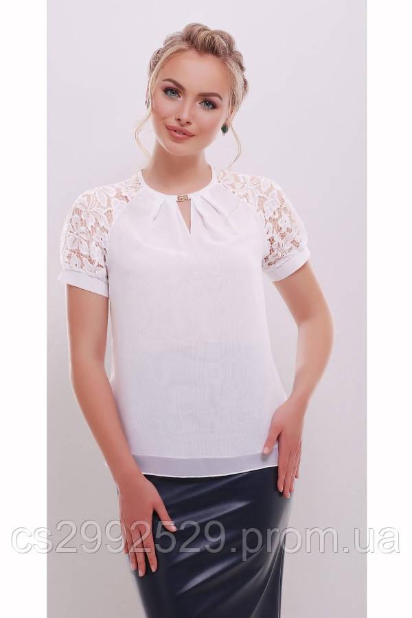 Блуза Ильва к/р белый
