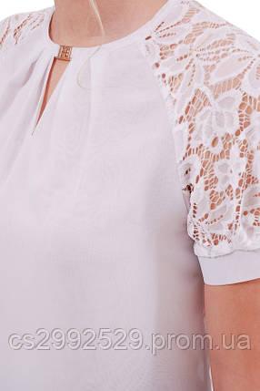Блуза Ильва к/р белый, фото 2