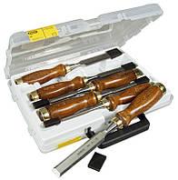 Набор стамесок  6 ед. Bailey™ с деревянной рукояткой  (6, 10, 12, 16, 20, 25мм, кейс)  STANLEY 1-16-