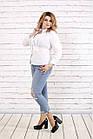 Белая блузка большого размера    0787-1, фото 2