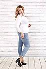 Белая блузка большого размера    0787-1, фото 3