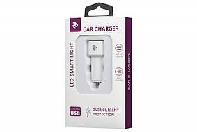З/у автомобильный 2E 2USB Car Charger 4.8A white (2E-ACR01-W) EAN/UPC: 680576168511, фото 2