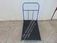 Тележка ручная платформенная с резиновым покрытием и и окантовкой резиновым уголком 800х500мм