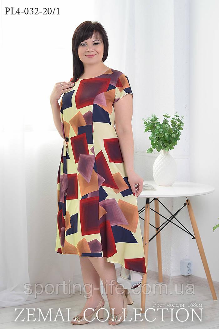 Платье большого размера ПЛ4-032 (р.52-58), фото 1