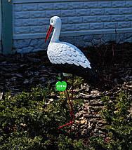 Садовая фигура Аист большой №3 на металлических лапах, фото 3