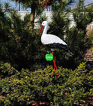 Садовая фигура Аист большой №3 на металлических лапах, фото 2