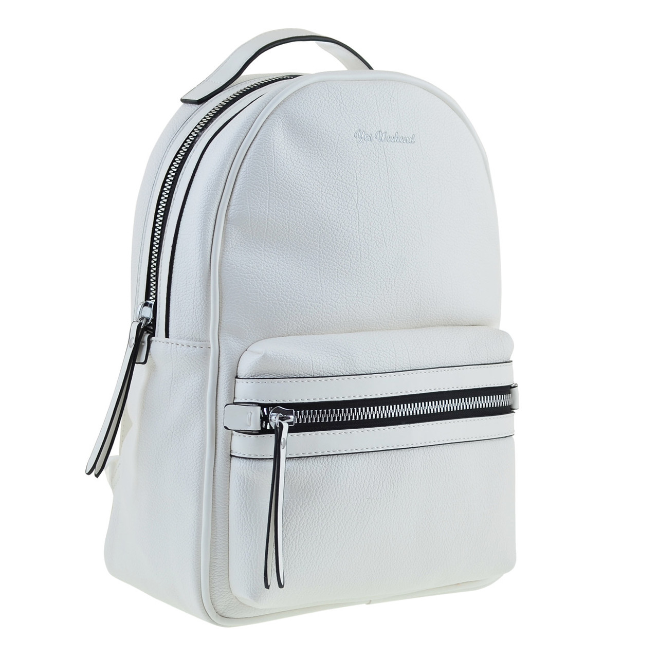 Рюкзак женский YES Weekend Florence YW44 из экокожи 37* 28*15 см белый (557801)