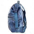 Рюкзак женский YES Weekend YW20 из экокожи 35*26*13,5 см синий (555846), фото 2