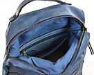 Рюкзак женский YES Weekend YW20 из экокожи 35*26*13,5 см синий (555846), фото 6