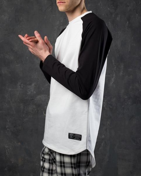Лонгслив мужской черно-белый от бренда ТУР модель Шазам (Shazam),размер XS,S,M,L,XL