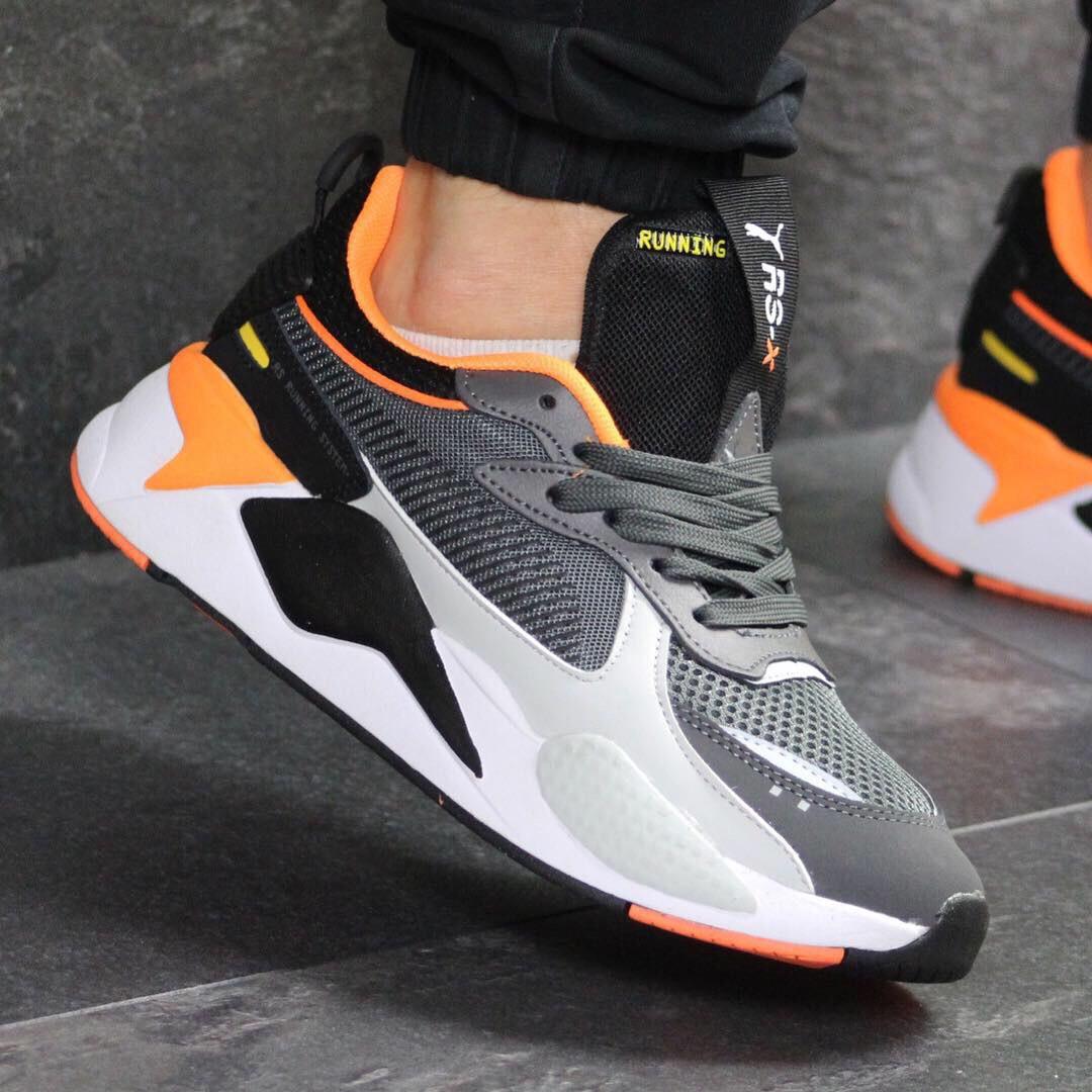 953d0c3c Мужские кроссовки демисезонные Puma RS Running System 7715 серые с  белым-черным - Интернет-