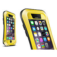 Чехол противоударный Love Mei Gorilla Glass для Apple iPhone 6 6S Plus желтый