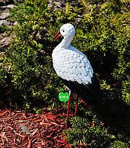 Садовая фигура Аист малый №2 на металлических лапах, фото 3