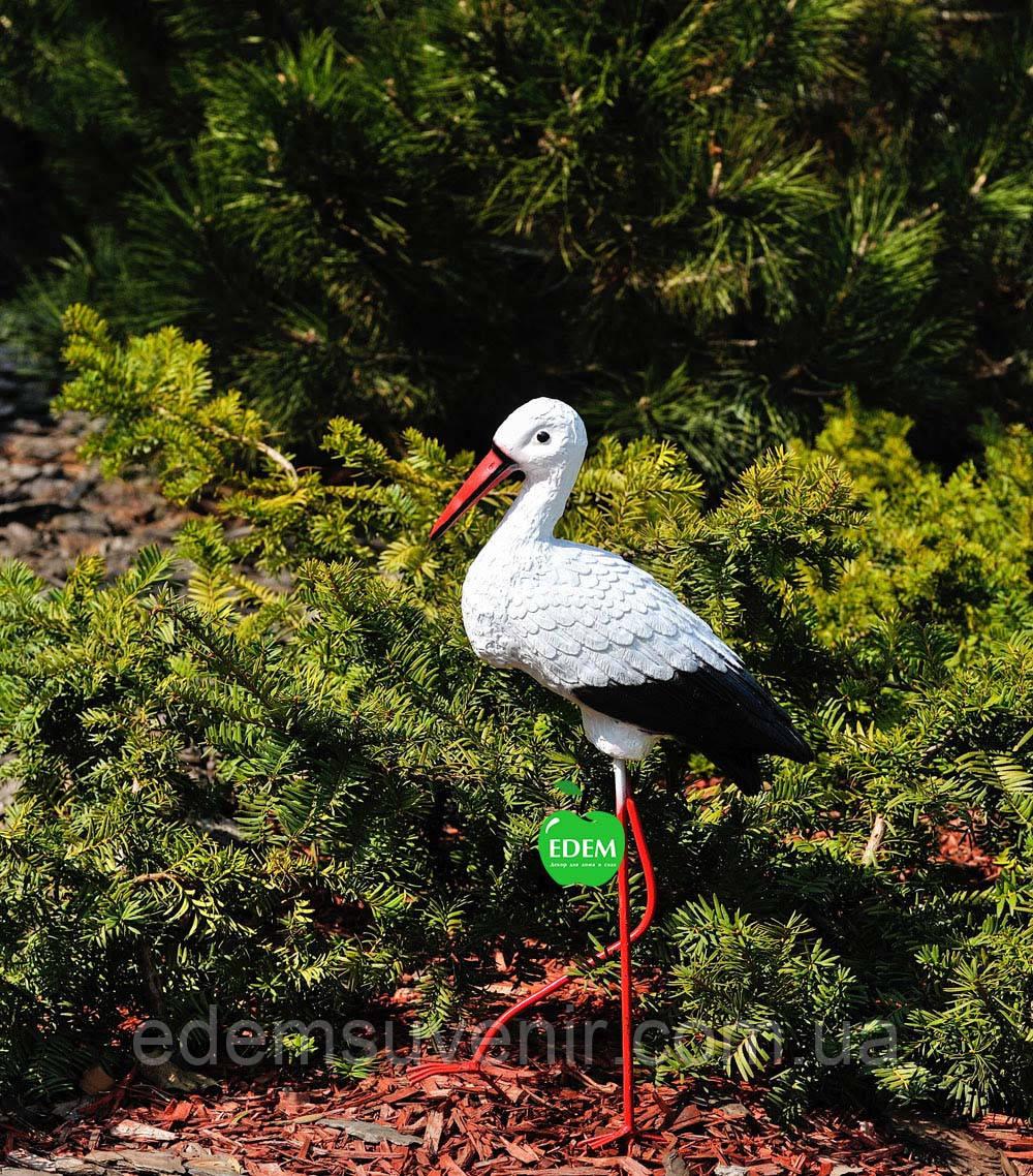 Садовая фигура Аист малый №2 на металлических лапах