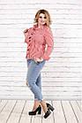 Біла блузка в червону смужку | 0793-3 великий розмір, фото 2