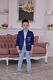 Нарядный костюм для мальчика 5 лет: пиджак, рубашка и брюки, фото 4