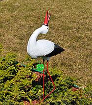 Садовая фигура Аистенок средний на металлических лапах, фото 3