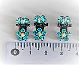 Затискачі Крабики для волосся зі стразами - фіолет (12 шт), фото 2