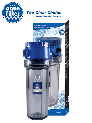 """Корпус фильтра для холодной воды 10"""" AquaFilter FHBP 3/4"""" байпас, фото 2"""