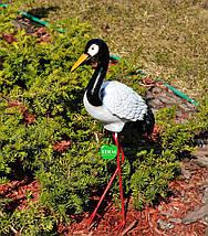 Садовая фигура Журавлик №2 на металлических лапах, фото 3