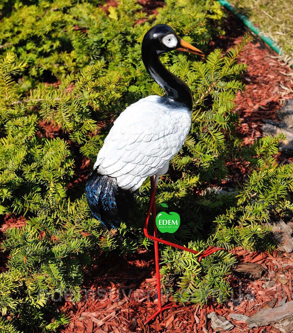 Садовая фигура Журавлик №2 на металлических лапах