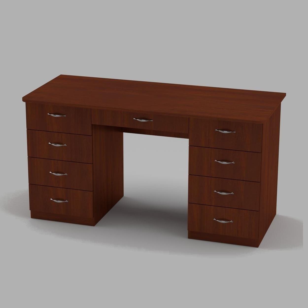 Письменный стол Компанит Учитель-3 1400х600х736 мм яблоня