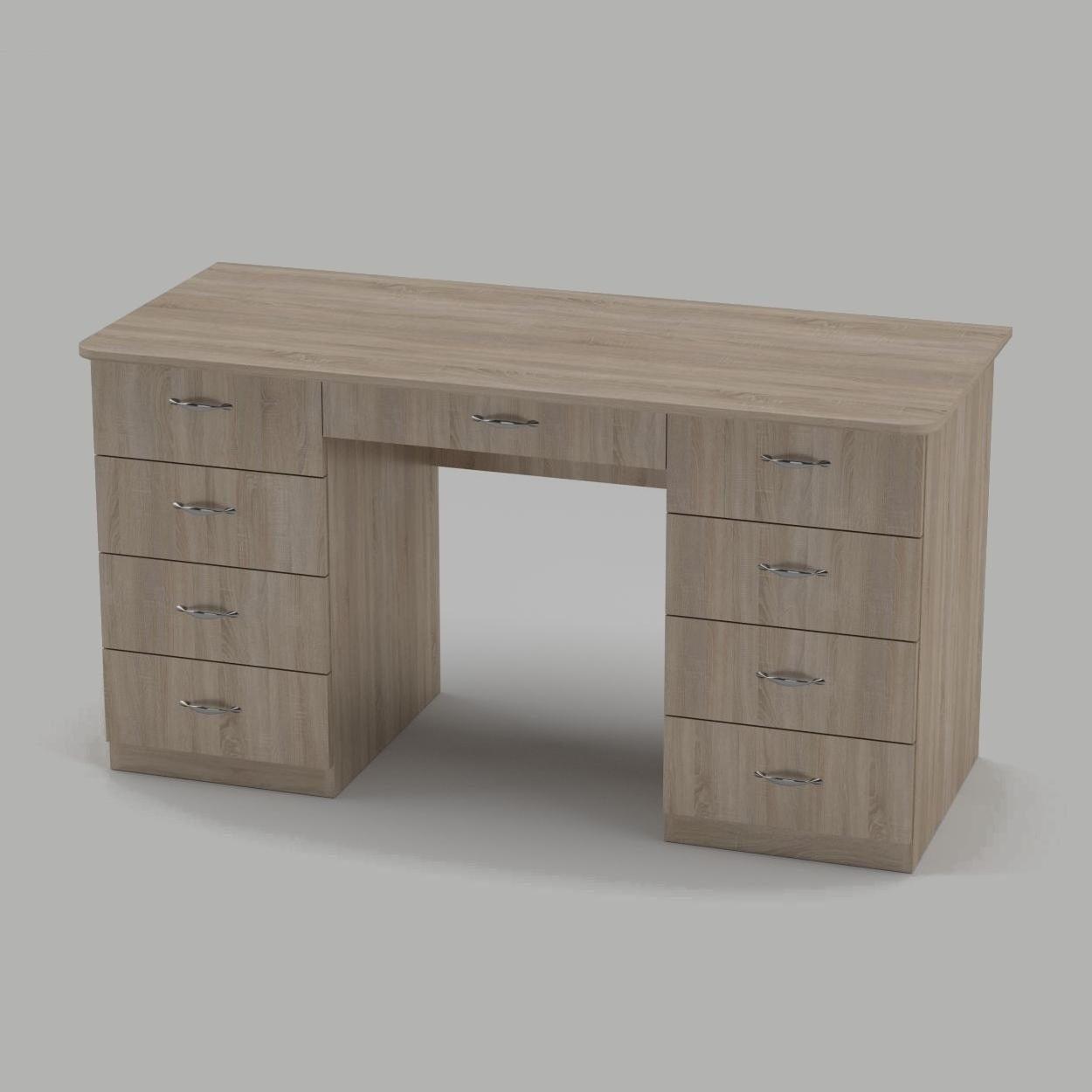 Письменный стол Компанит Учитель-3 1400х600х736 мм дуб сонома