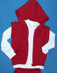 Комплект детский  Желет+ брюки   Полотно : двухнитка  Футболка сдлиным рукавом на манжете Полотно : кулир + стрейч