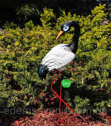 Садовая фигура Журавушка №2 на металлических лапах, фото 2