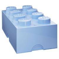 Восьми точечный голубой контейнер для хранения Lego 40041736