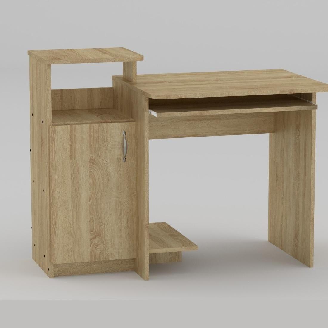 Компьютерный стол Компанит СКМ-2 1102х600х750 мм дуб сономе