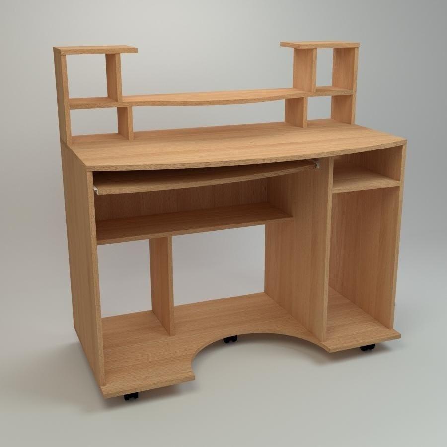 Компьютерный стол Компанит Комфорт-1 1100х600х786 мм бук