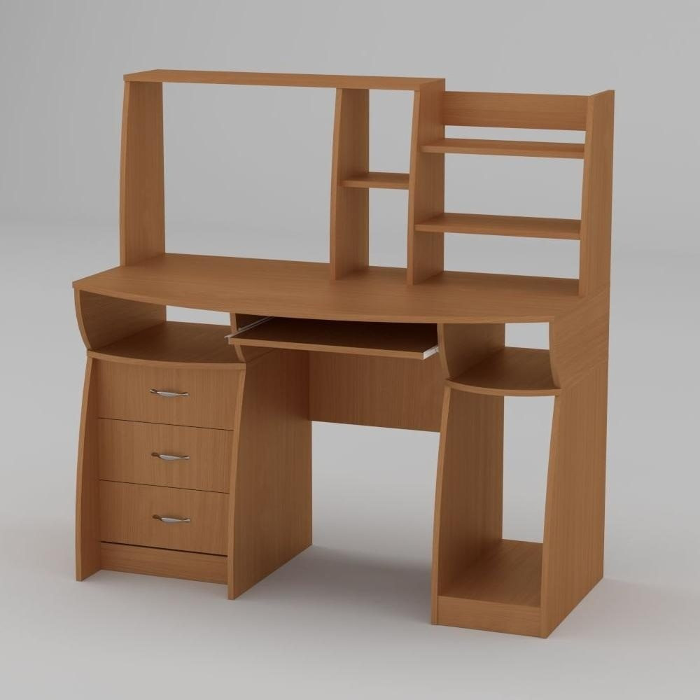 Компьютерный стол Компанит Комфорт-3 1310х700х809 мм бук