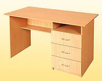 Стол письменный 1-тумбовый с шухлядами