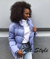 Женская короткая куртка на кнопках с накладными карманами, фото 1