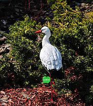 Садовая фигура Аист малый №3 на металлических лапах, фото 3