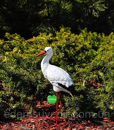 Садовая фигура Аист малый №3 на металлических лапах, фото 2