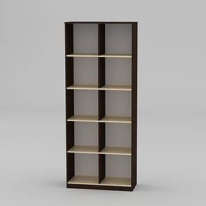 Книжкова шафа Компаніт КШ-2 2056x836x360 мм венге